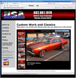 USA Collision website thumbnail